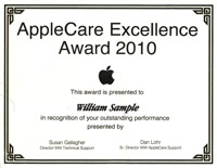 Apple Excellence award